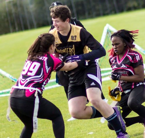 Raptor Tendai Chieza making tackles! Photo by Rob Connor