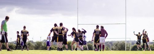 The Coventry Panthers celebrate their win over the Badgers. Photo by Rob Connor